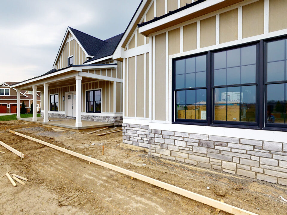 exterior color for custom home build - premier builders - toledo custom home builder