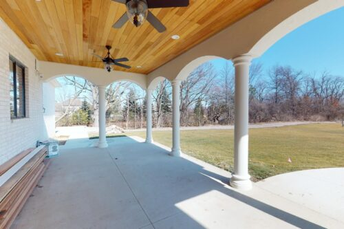 outdoor living space for custom home build