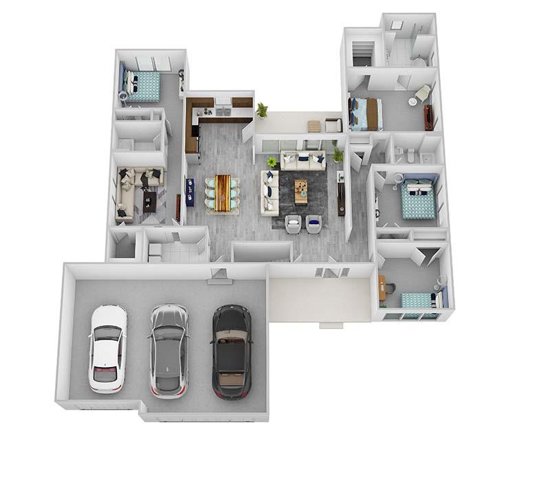 Ranch floor plan